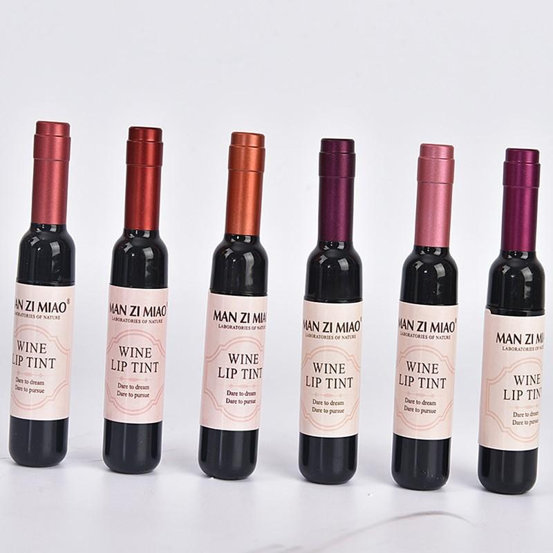 À Prova D' Água coreano Vinho Tinto Forma Lip Tint Bebê Rosa Lábio Para As Mulheres Batom Maquiagem Batom Líquido Lipgloss Cosméticos M02347
