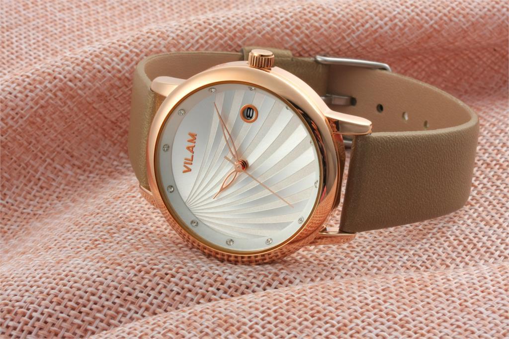 Мода простой Авто дата женские часы элегантный Импорт движение кожа relogios femininos