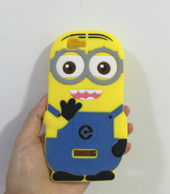 3D Despicable 2 Minions Soft Silicone Back Cover Case Wiko Rainbow - ALEX ZHOU Store store