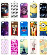 Mobile Phone Case Retail 1pc Night Sky Minions Hybrid Design Protective White Hard Case Cover For IPHONE 5C Free Shipping