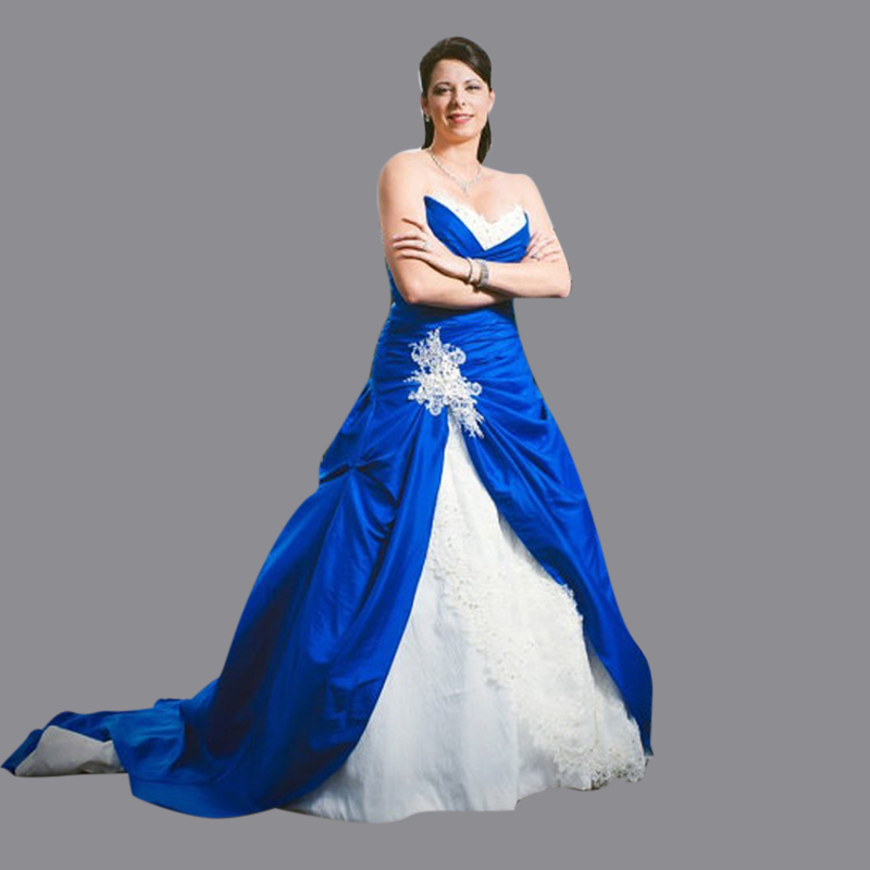 Plus Size Wedding Dresses Buy Cheap Royal Blue And White Plus Size