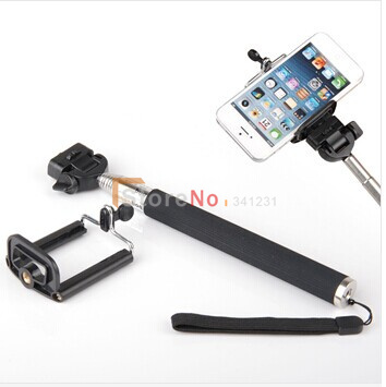 Portable Handheld Self-Timer Monopod for Camera & Phone Telescopic Extendible Selfprotrait Stand Holder for Iphone 4 5 Samsung(China (Mainland))