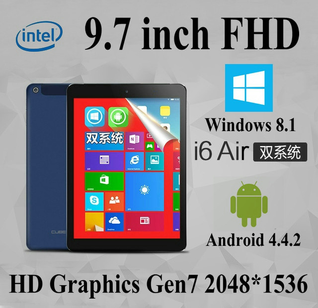 "9.7"" Inch FHD 32GB Mini Laptop Tablet PC Mini Netbook Computer Windows 10 and Android 4.4 Quad Core 2 IN 1 Dual System 3G(China (Mainland))"