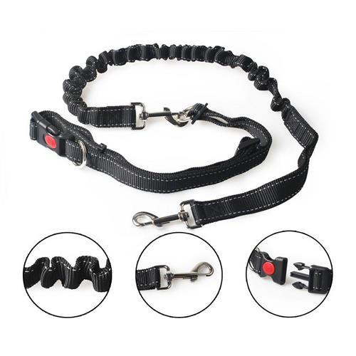 Hands Free Dog Training Leash Lead for Running Walking Hiking with Adjustable Waist Belt up to 42″ in length