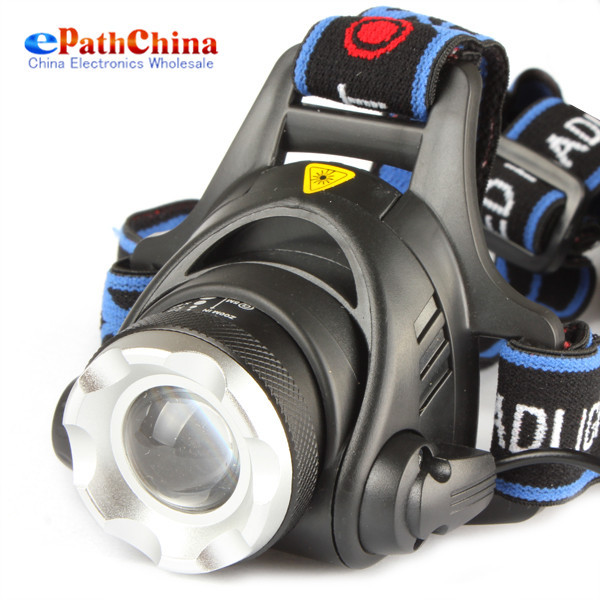 2000Lm Waterproof CREE XML T6 Zoom LED Headlight Headlamp Head Lamp Light Zoomable Adjust Focus For Bicycle Camping Hiking(China (Mainland))