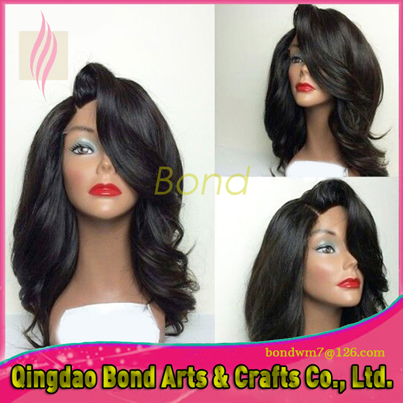 Hand tied front lace wig 7A Brazilian remy human hair body wave natural color can be brushed straightened blow dried curled<br><br>Aliexpress