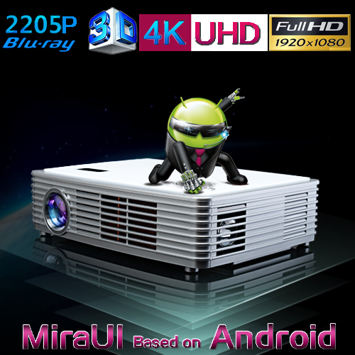 Brand New Luxcine Mini LED Smart 3D Video Projector Z3000 Supports 1080P 2205P Best for Home Theater(China (Mainland))