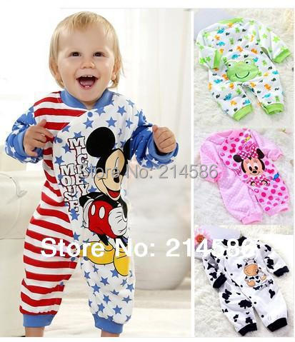 Infant&toddler cotton clothing Children pajamas baby rompers newborn long sleeve jumpsuit baby girl boy sleepwear 0-1year old(China (Mainland))