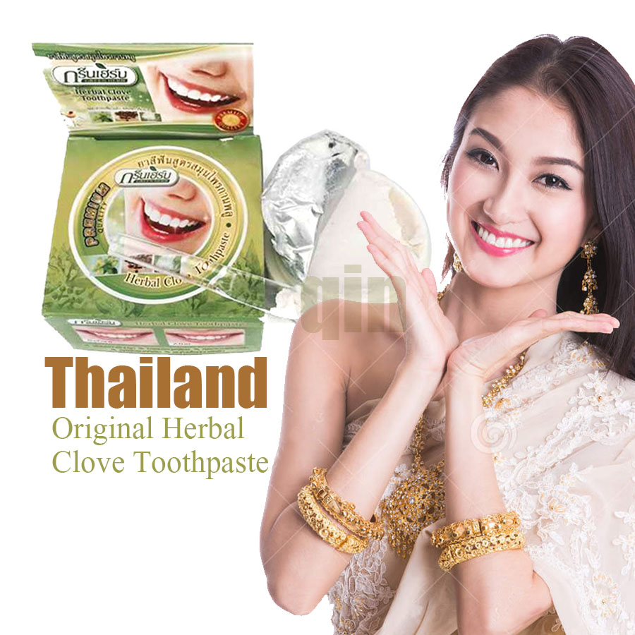 Thailand original herbal clove toothpaste anti-bacteria,whitening,remove smoke tea yellow stains plaque to halitosis oral care