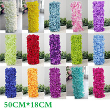 Noble Carpet type Hydrangea DIY wedding Setting wall decoration Road led flower T stage decorative Show Me the Way(China (Mainland))