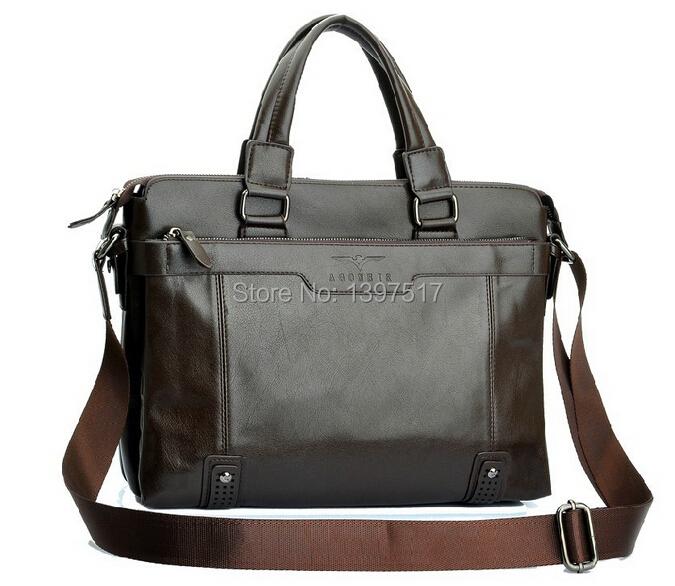 Bolsa De Couro Usada : Novidade luxuosa bolsa de couro marrom masculina a