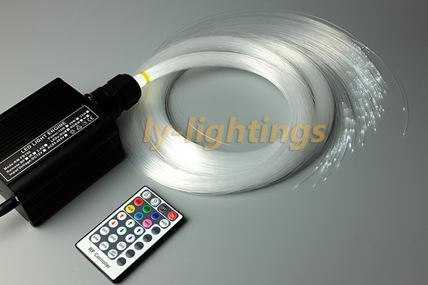 Mini fiber optic light kit optical fiber celing light RGB+W 16W led light  source+