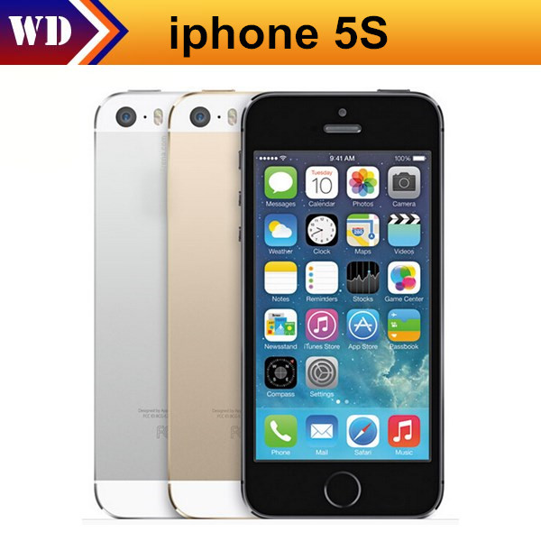 Factory Unlocked Original Apple iPhone 5s phone 16GB / 32GB ROM IOS8 IOS9 White Black GPS A7 IPS 1 year warranty(China (Mainland))