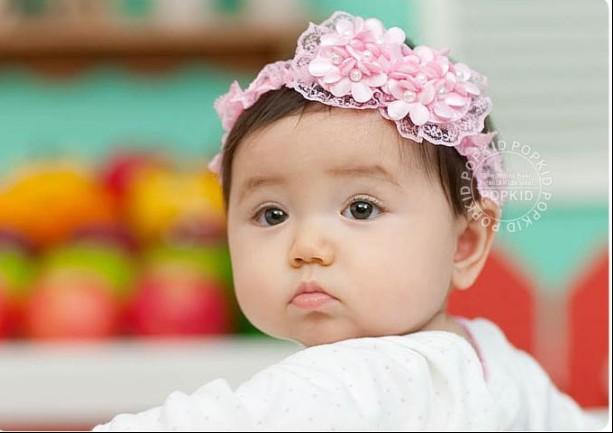 Children ribbon Baby hair band Headwear baby headbands eight characters pearl lace Hair Accessories faixa de cabelo xth151(China (Mainland))