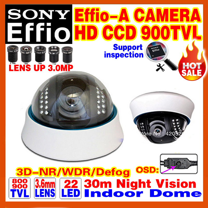 "Limited 1/3""Sony CCD Effio-A 800/900TVL Analog 960H Hd Cctv Dome Camera Infrared IR 22Leds Night Vision 30m OSD Meun Color Video(China (Mainland))"