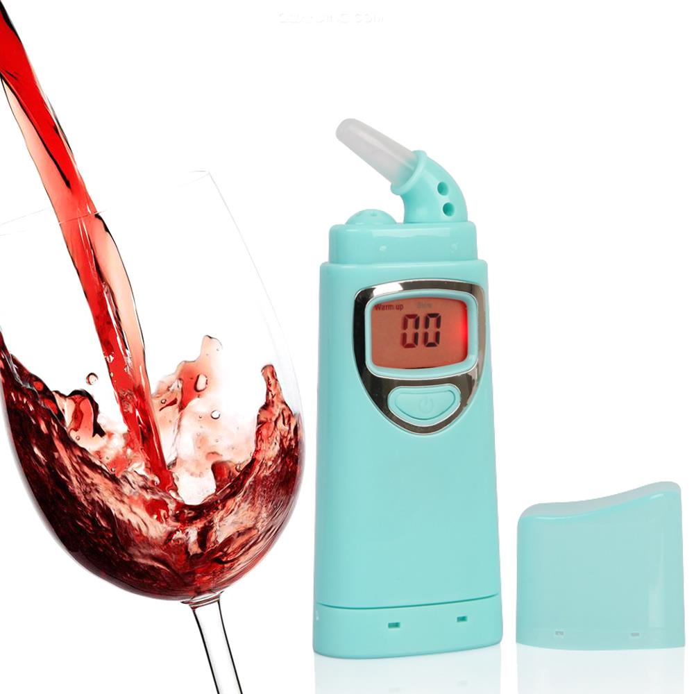 GREENWON Prefessional Police Digital Breath Alcohol Tester Breathalyzer Alcotest with 5 mouthpieces(China (Mainland))
