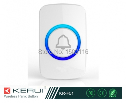 Secrui KR-F51 Wireless Transmitter Panic Button used for elderly people or emergency situation alarm system(China (Mainland))