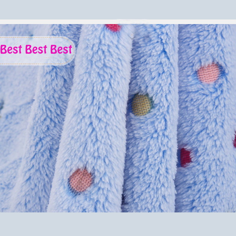 Nice 1pc Blue 165x50cm 100%Coral Cashmere Knitted Fabric,Double-Sided Coral Fleece For Diy For Baby Clothes Sew Teals,Felt,Tilda(China (Mainland))
