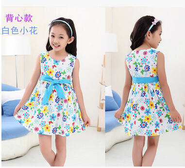 Fashion girls dresses Baby girl bowknot dress new 2015 summer princess Children's clothes kids cute - Good quality clothing store