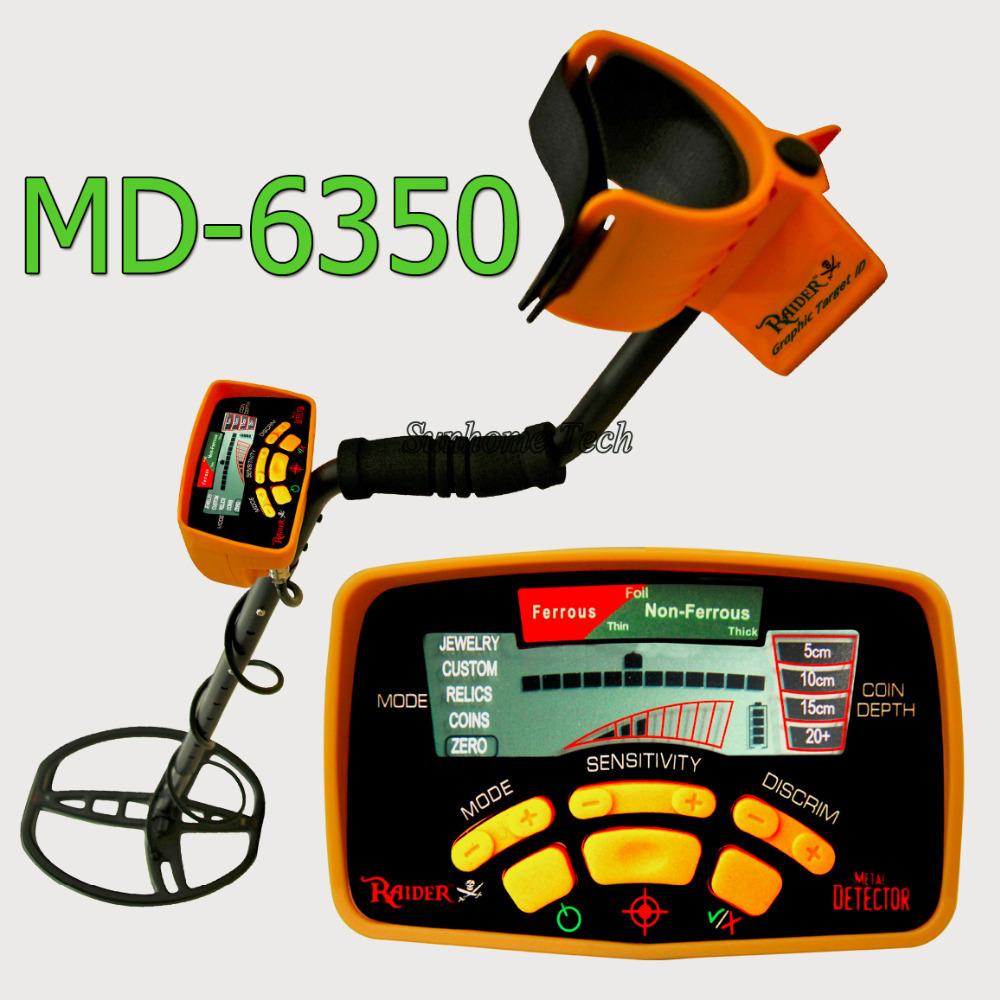 Pro ground metal detector MD-6350 gold metal detector 5 modes gold digger high sensity treasure hunter(China (Mainland))