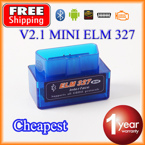 Cheapest Super MINI Bluetooth ELM327 V2.1 OBD2 / OBDII ELM 327 for Android Torque Car Code Adapter FREE SHIPPING(China (Mainland))