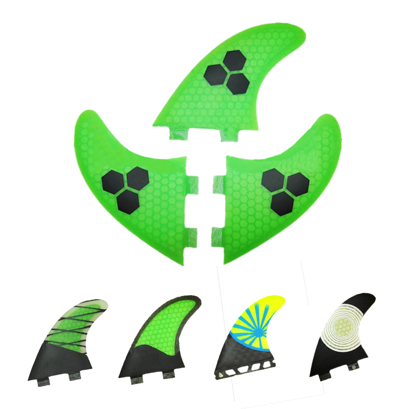 3 PCS/SET 2016 New Green Surf Fins/Surfboard Fins FCS/Fiberglass Surf Fins beehive Fsurfing fins For Men And Women G5/G7(China (Mainland))