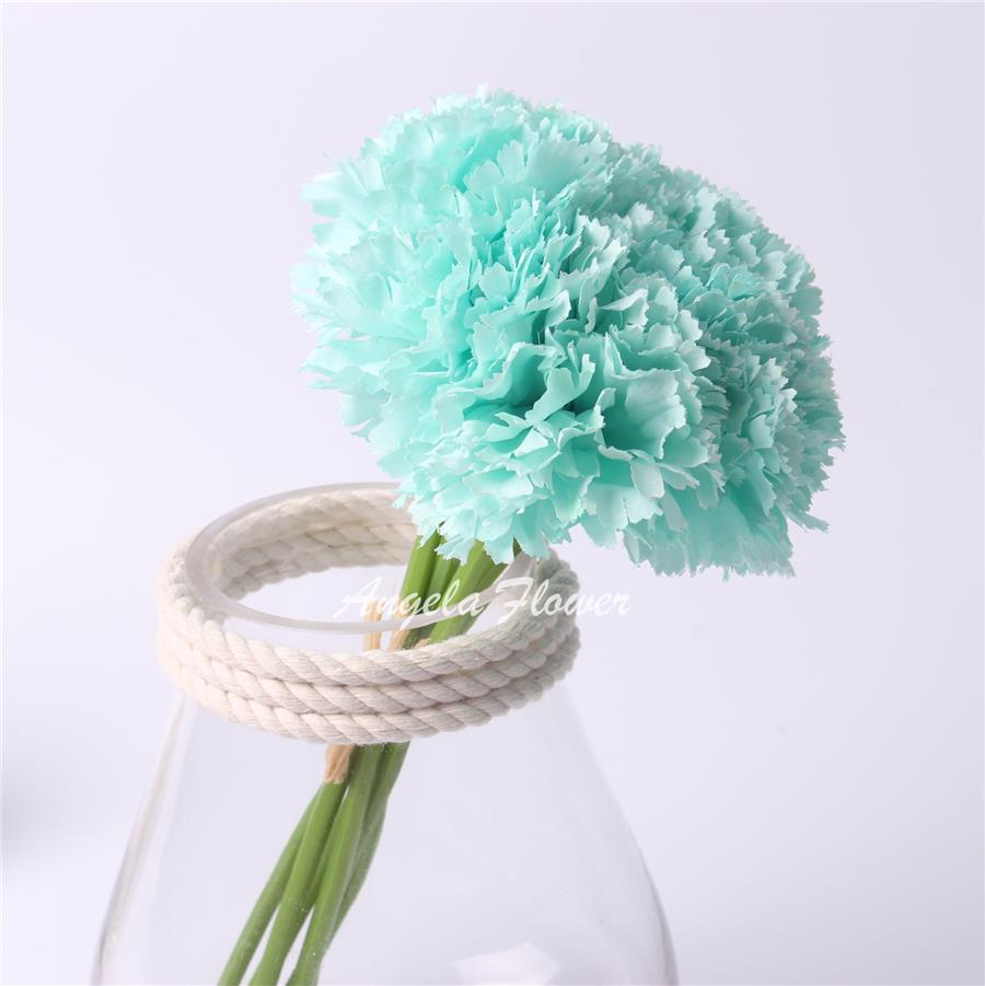 Cute 1 bouquet 6 heads carnation Artificial flower silk decoration wedding home /monther's day - X-Colorful Life store