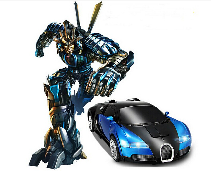 2015 Deformation Robot car remote control toys Electric Control Speed Toys mini 1:24 model Boys Children