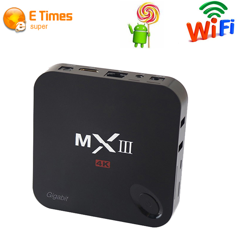 2016 hot sell New Original MXIII-G MXIII g 16GB Flash Amlogic S812 tv box android 5.1 Gigabit Lan 2G/16G 2.4G/5GHz Dual WiFi(China (Mainland))