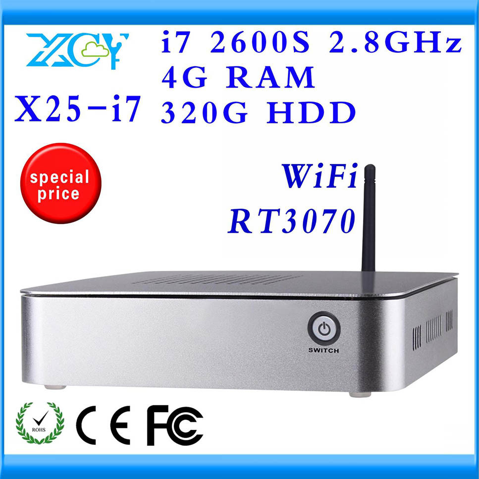 XCY Computer Full HD MINI PC DIY Computer 4G RAM AND 320HDD MINI PC Wifi slim pc can be used internet cafe DESKTOP COMPUTER(China (Mainland))