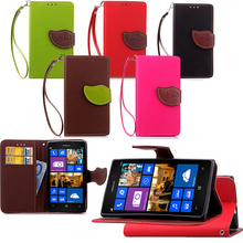 For Nokia Lumia 925 case,independent brand luxury Leaf buckle flip PU leather back cover case for Nokia Lumia N925 Free shipping(China (Mainland))