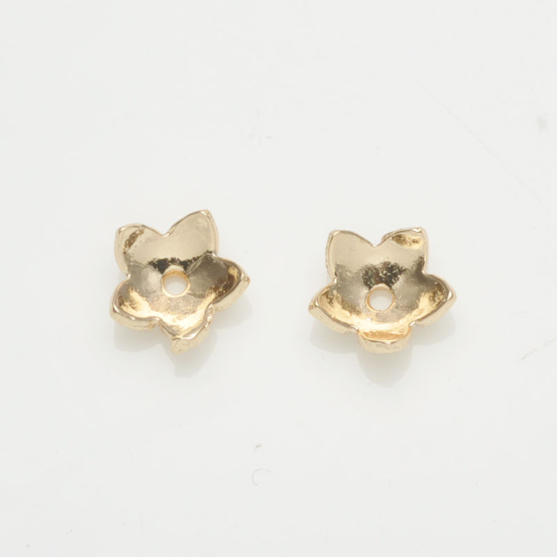 Gold Plated Tone Filigree Accessories Flower Wraps Fine Jewelry Findings Connectors Components Gasket