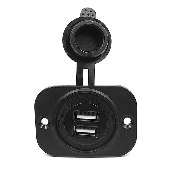 R1b1 новый двойной USB окружающей среды ABS сигары прикуривателя база с 12 В фиксированной лоскут