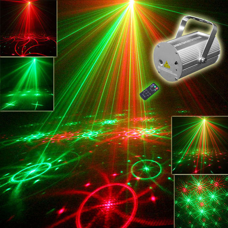 Mini Disco Party Laser Lights And Music Lumiere dj Equipment Red Green 8 Patterns Night Club Lighting(China (Mainland))