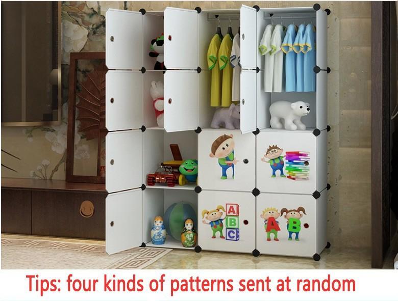 Child Portable Wardrobe Triple Home Portable Folding Wardrobe Wardrobe Kids Toy Storage Closet