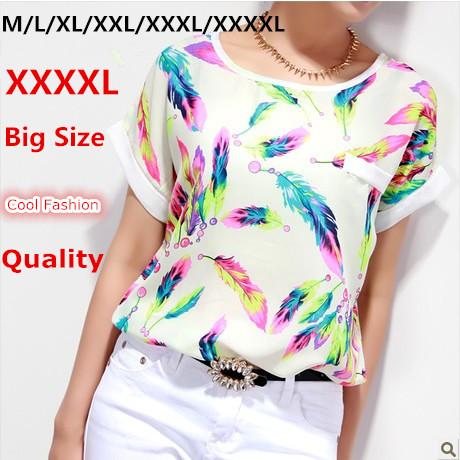 Summer Style Female T Shirt White XXXL 4XL 6XL Plus Size Blusas Camisas Women Tops Tee Shirt Cheap Clothes China T Shirt Women(China (Mainland))
