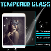 100pcs/lot Brand New Tempered Glass For iPad Mini 1 2 3 9H Hard High Transparent Screen Protector(China (Mainland))
