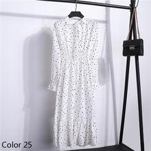 Шифоновое платье с эластичной резинкой на талии, с вечерние платья трапециевидной формы с бантом, Для женщин длинный рукав Цветочный принт ...(China)