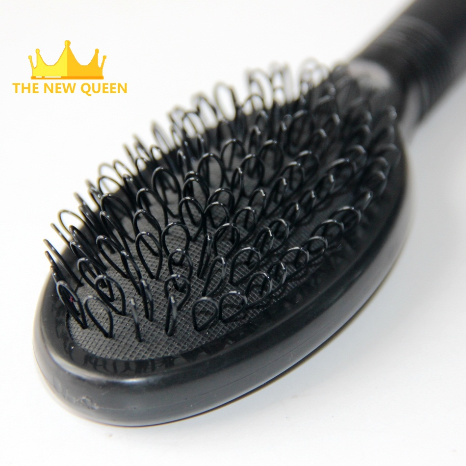 Black color hair extension loop brush/Hair comb for hair extension tools/ Wig care comb/ Hair extension care(China (Mainland))