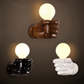 Art resin fist wall lamp retro loft cafe restaurant bar club lamp pub office study balcony