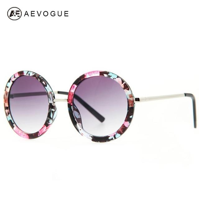 Розничные новые AEVOGUE новое ретро круглая рамка солнечные очки тавра женщин мода UV400 солнцезащитные очки gafas óculos де золь DT0126