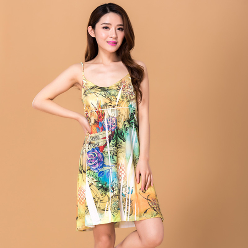 Women Dress Summer Vestidos Maxi 2016 dresses fashion short dress plus size office Beach Sexy dres Party cabestrillo vestido(China (Mainland))