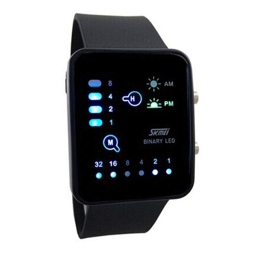 Technological Sense Binary Digital LED Sports Touch Screen Wrist Watch Mens Military Water Resistant Calendar Clock
