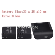 2x900mAh 3.7V Lithium Digital Batteries Battery Bateria +Micro usb Charger For SJCAM SJ4000 SJ 4000  SJ4000 SJ5000 Plus SJ6000