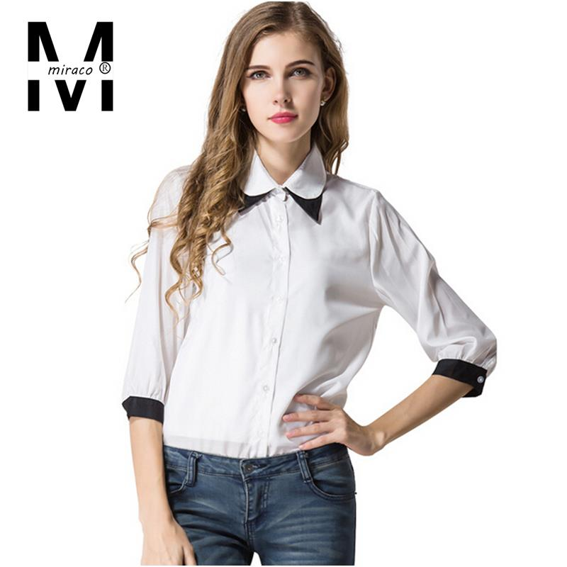 fashionable women shirts 2015 cute sweet peter pan collar ...