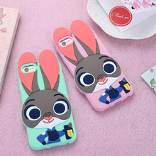 Zootopia rabbit TPU silicone case, 's lovely beautiful mobile phone, For iPhone 6 S / plus accessories, Samsung S7edge TPU S7 S6