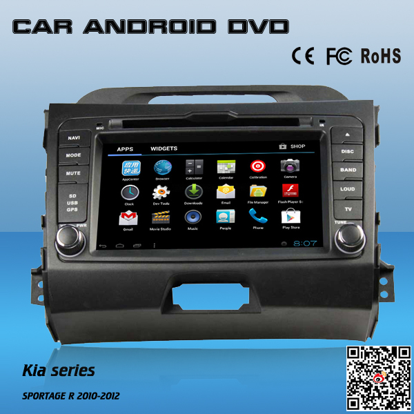 7 inch Android 4.0 Car 2 Din DVD Player GPS for Kia Sportage with Canbus and CE for sale(China (Mainland))