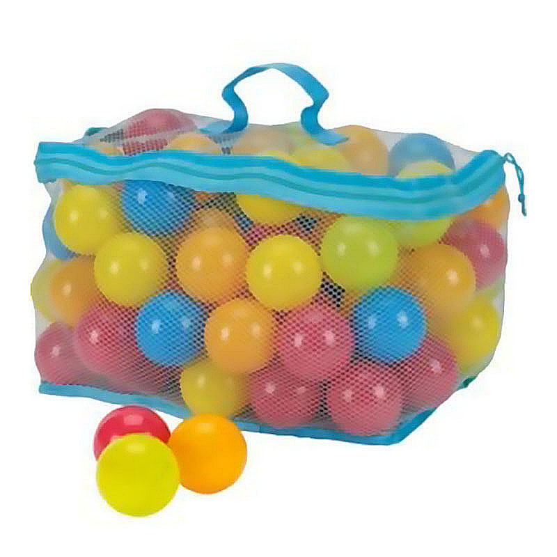 100PCS Eco-Friendly Ball Soft Plastic Ocean Ball Kid Swim Pit Toy Water Pool Ocean Wave Ball with Mesh bag (random color)(China (Mainland))