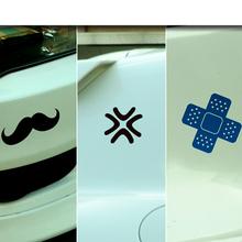 Fashion Fun Beard Burst Plast Scratch JDM Logo Car Sticker Auto Motorcycle Decal Labels 3M Window Body Exterior Car-Styling - Cyberday Technology Ltd. store