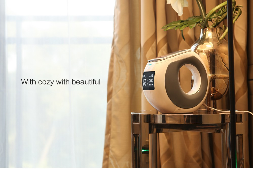 RU Nillkin Music Player Subwoofer portable alarm clock bluetooth speaker with aux/nfc/usb charging elephone qi wireless charger